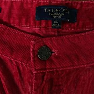 Vibrant Talbots Red Cords. Gorgeous.
